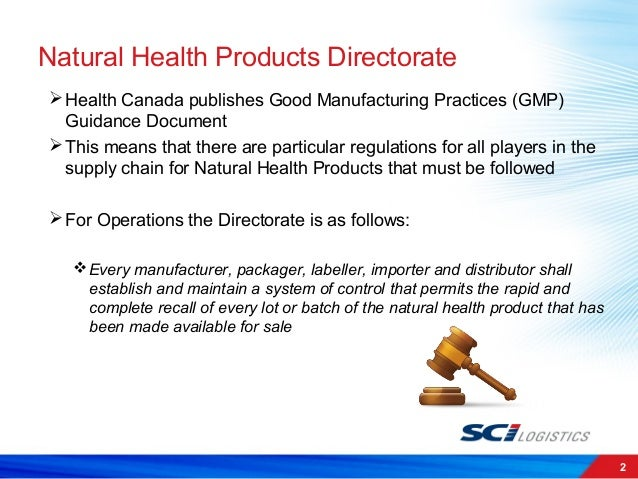 Importer Canada Natural Health Products