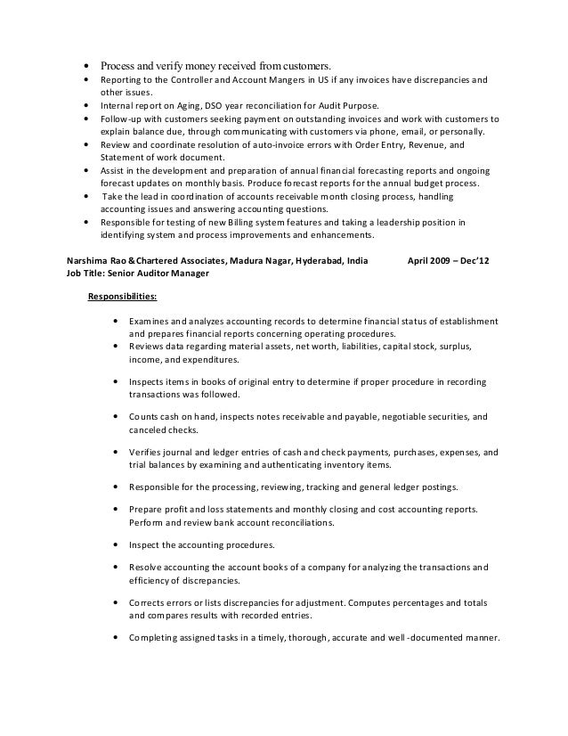 awesome cost accountant resume in bangalore photos resume