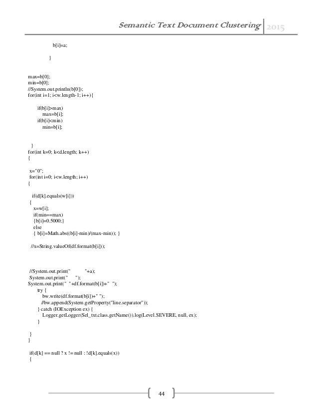 semantic text doc clustering