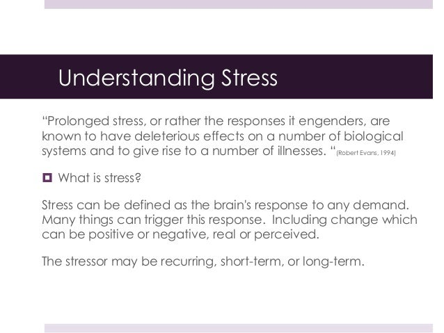 the effect of stress on our The following pages will explain the effects of such high-stress moments on different organs on-the-spot stress reduction here are some of our experts' favorite methods of de-stressing on the fly: walk it off walking is wonderful, says roberta lee.