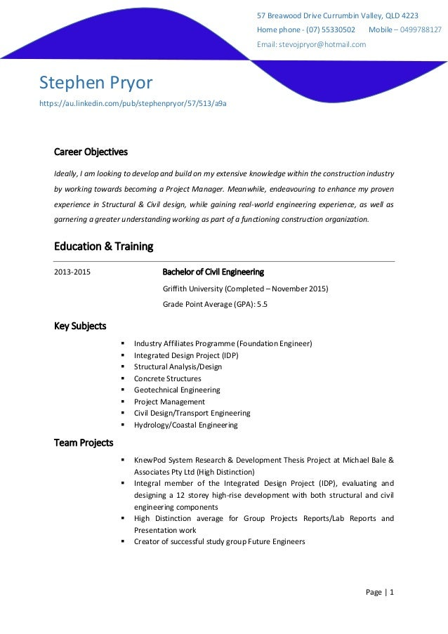 Amazing ... Construct A Resume. Page 1 Career Objectives Ideally I Am Looking To  Develop And Build On My   How Inside How To Construct A Resume
