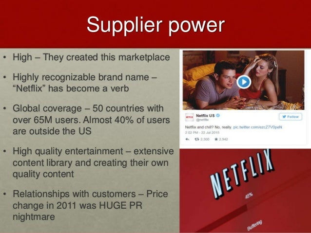 netflix and porter s five forces Zynga through the lens of porter's five forces  in this article, we stack up zynga's business against porter's five forces to assess where it could gain or lose going forward.
