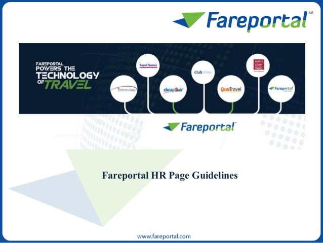 Fareportal HR Page Guidelines