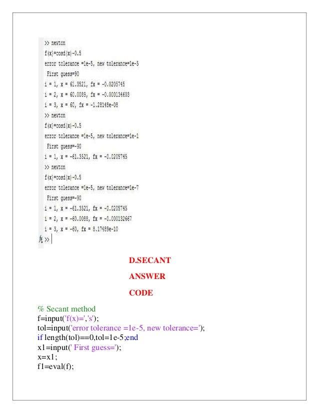 B61301007 matlab documentation