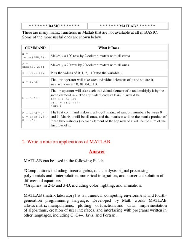 B61301007 matlab documentation