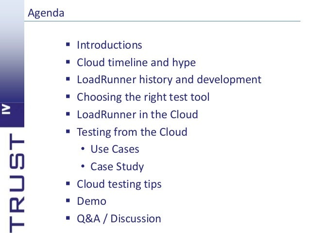 Cloud Performance Testing with LoadRunner
