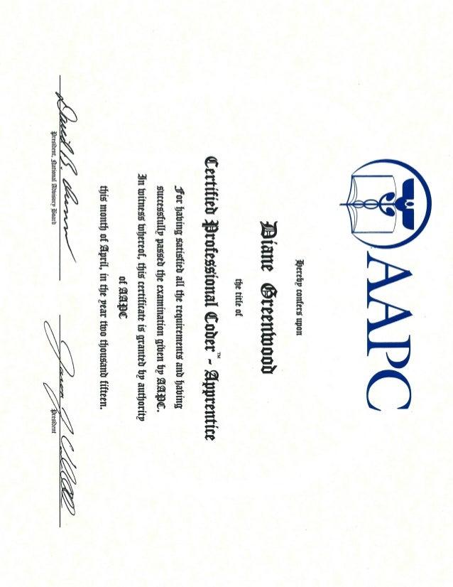 Diane Cpc Certificate