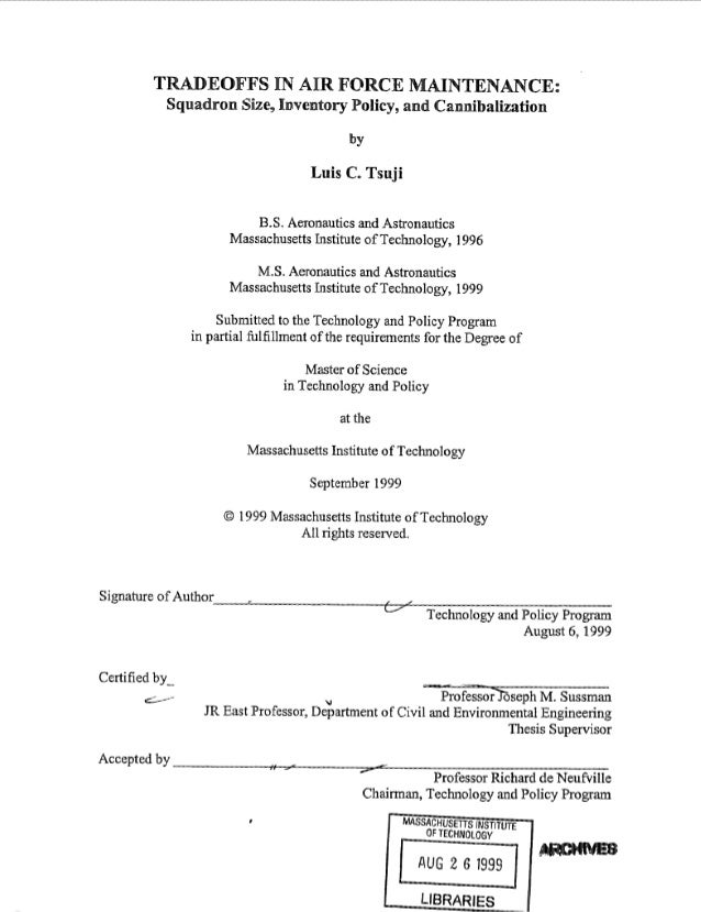 Airforce dissertation