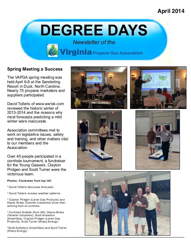 VAPGA Degree Days April 2014