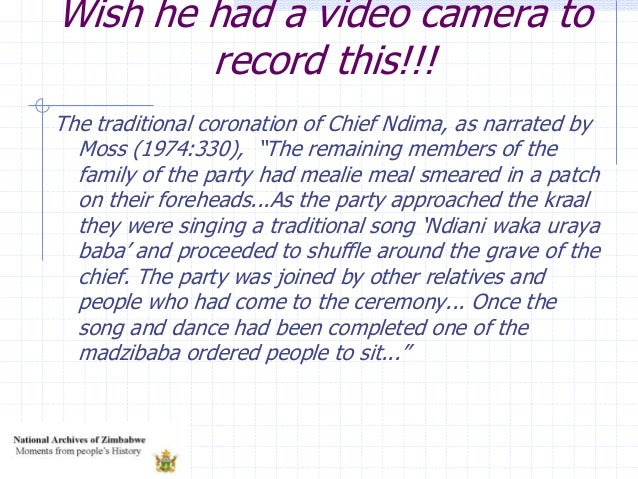 """Wish he had a video camera to record this!!! The traditional coronation of Chief Ndima, as narrated by Moss (1974:330), """"T..."""