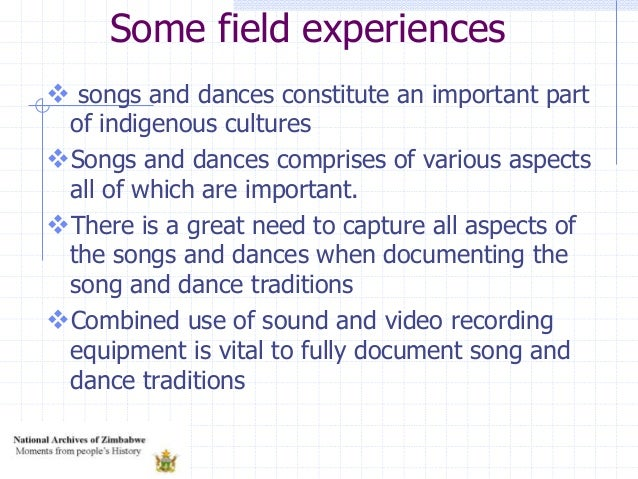  songs and dances constitute an important part of indigenous cultures Songs and dances comprises of various aspects all ...