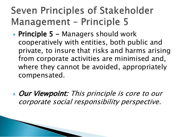 relations with stakeholders through corporate social Engagement challenges at each of the locations in which they operate  relationships with community stakeholders must be guided by corporate level  policies.