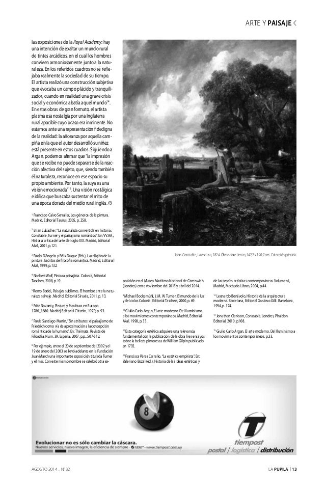 La Pupila 13AGOSTO 2014 nº 32 las exposiciones de la RoyalAcademy: hay una intención de exaltar un mundo rural de tintes a...