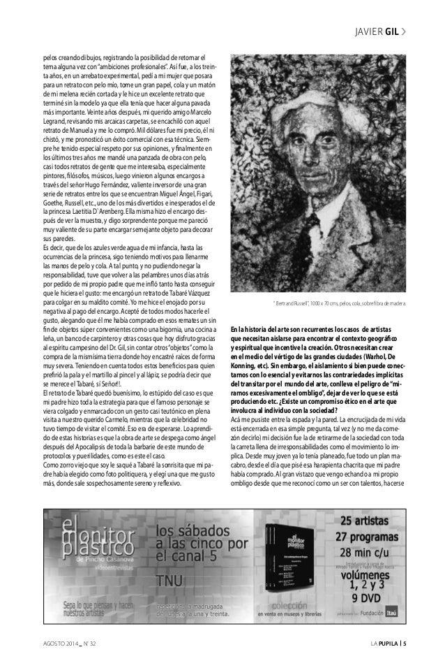 """La Pupila 5AGOSTO 2014 nº 32 pelos creando dibujos, registrando la posibilidad de retomar el tema alguna vez con""""ambicione..."""