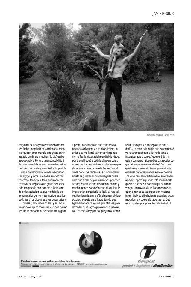 La Pupila 7AGOSTO 2014 nº 32 Foto del artista con su hijo Aron. falta foto de Gil cargo del mundo y sus enfermedades me re...