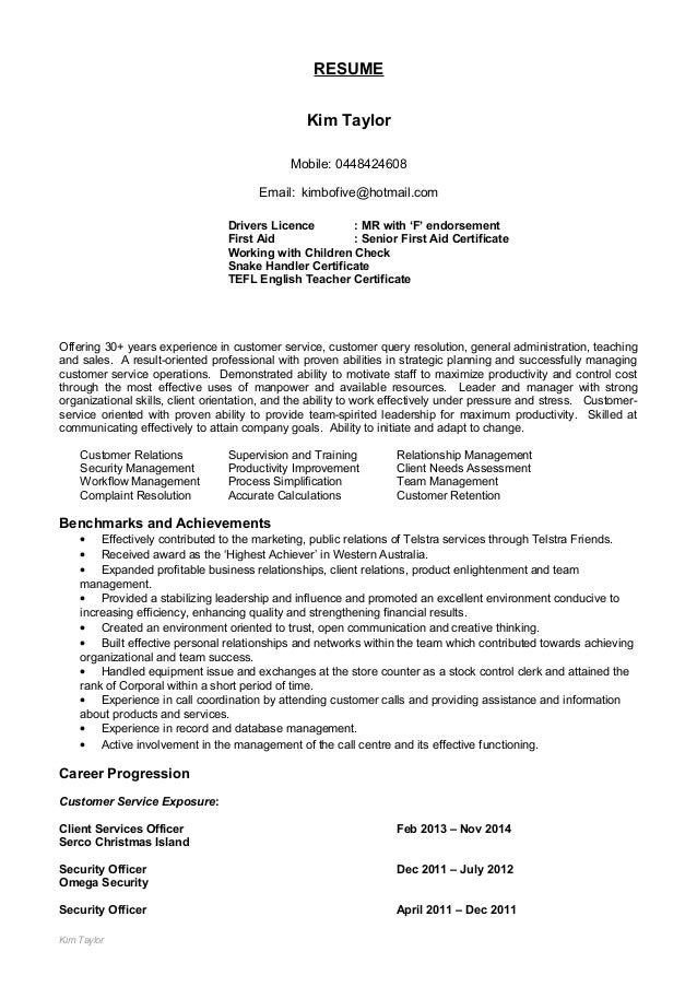 kim u0026 39 s resume update