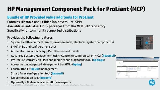 HP ProLiant Value Add tools