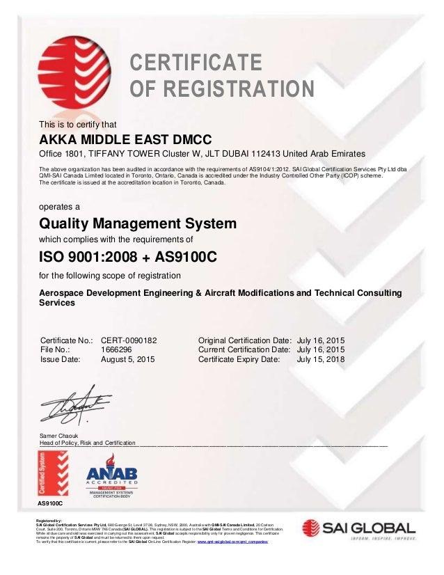 AKKA ME - Iso9001-AS9100 Certificate -rev1