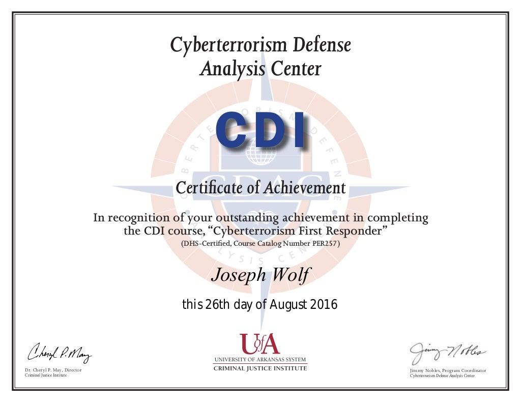 cfr cdi certificate wolf
