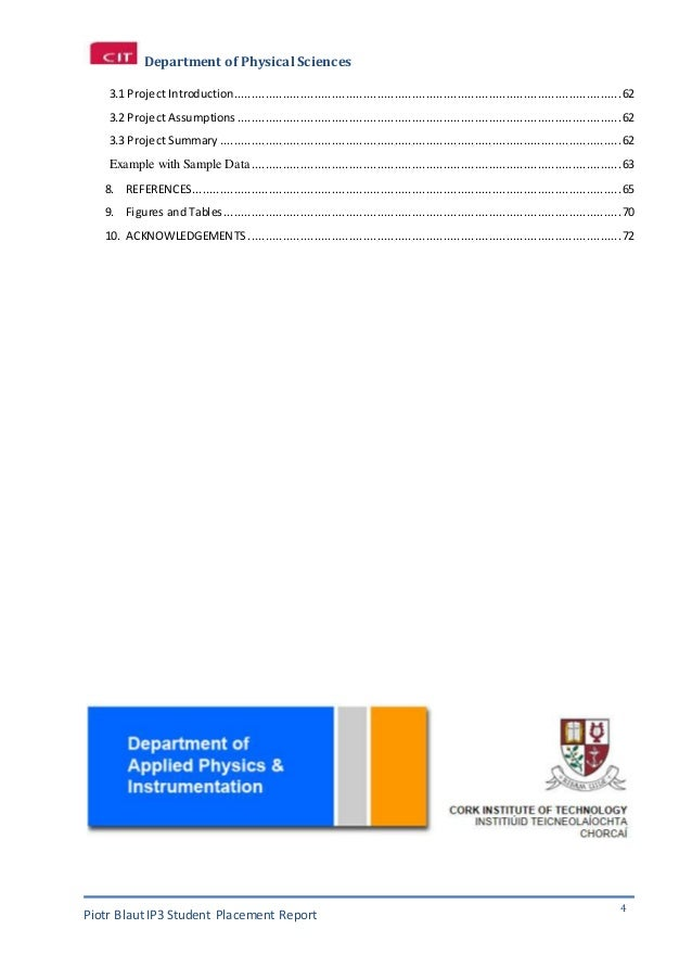 placement report Annual report template, sample, example and format will make the topic annual report very clear and it should be very clear example placement report example placement report.