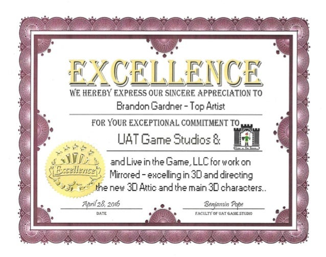 20162804 Certificate of Appreciation - UAT
