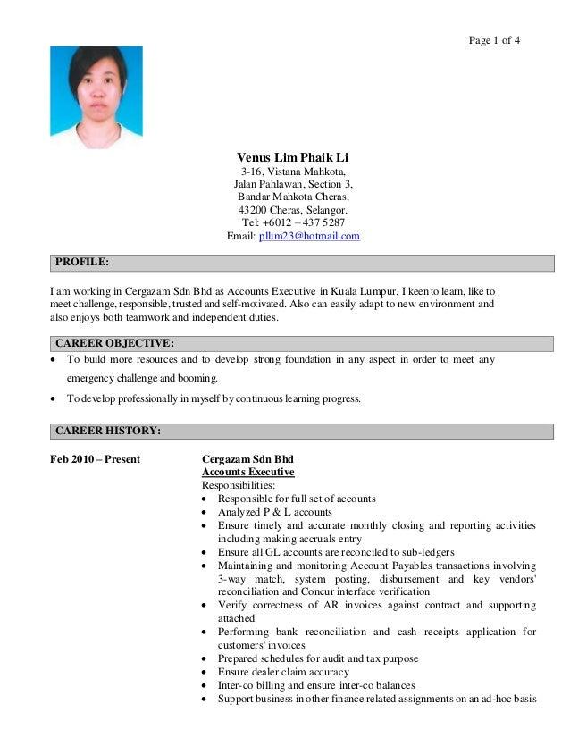 Page 1 of 4 Venus Lim Phaik Li 3-16, Vistana Mahkota, Jalan Pahlawan, Section 3, Bandar Mahkota Cheras, 43200 Cheras, Sela...