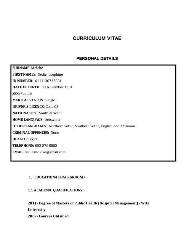 CV SEDIE MOLOKO Updated 2015