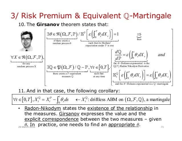Radon nikodym derivative process martingale betting fx 8350 csgo betting