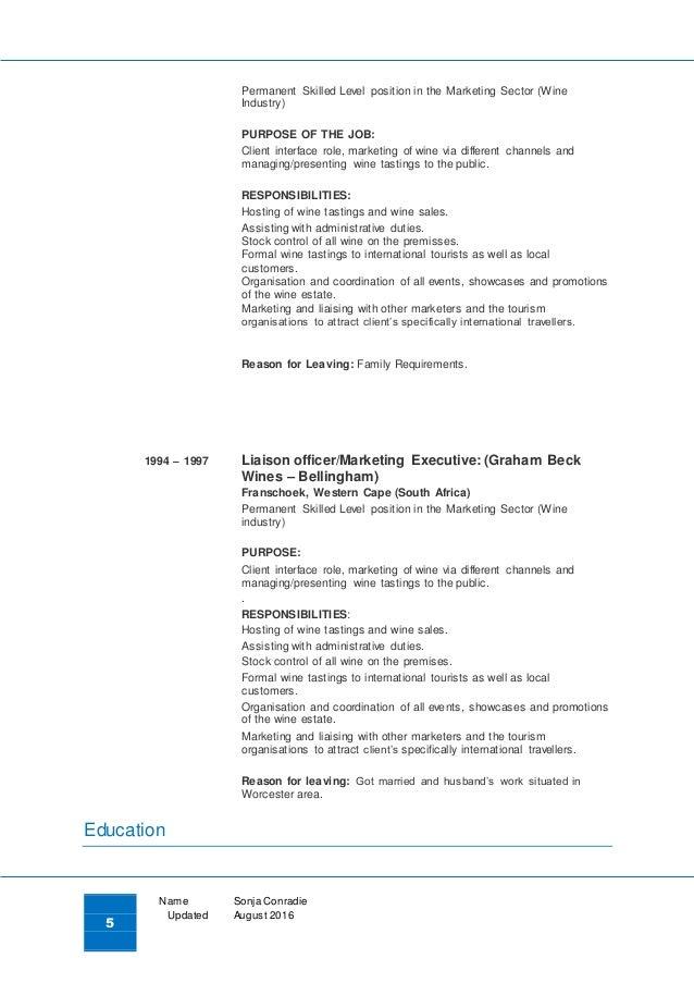 sonja conradie resume 2016