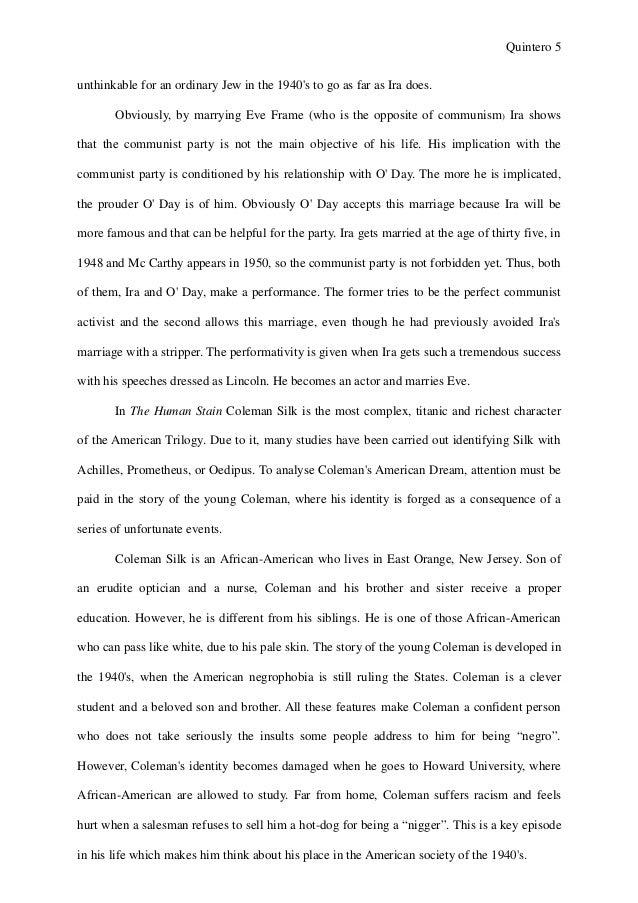Essay roth trilogy