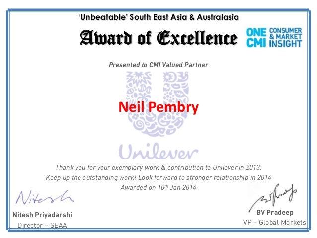 SEAA CMI Certificate - Neil KWP TH