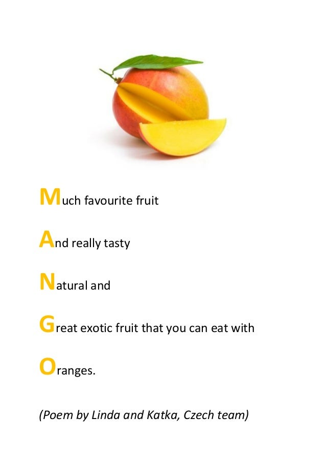 acrostic poems about superfoods from the czech team 4 638