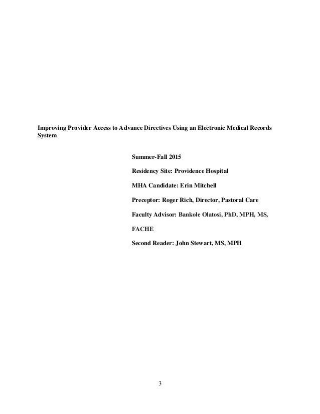 Pennsylvania advance directives essay