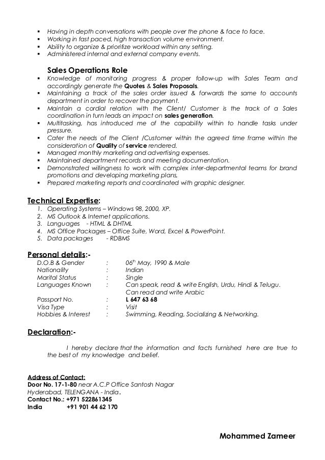 Fast Paced Environment Resume. 3. 2. Mohammed Zameer; 2.
