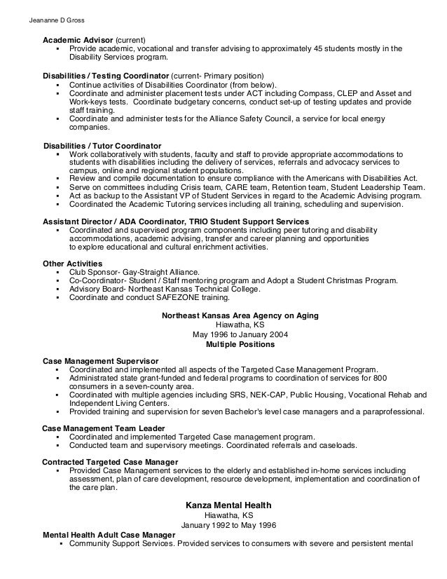 academic advisor resume - Ideal.vistalist.co
