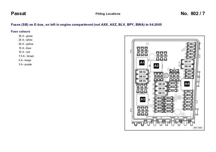 vw passat b6 3c 2005 fuses overview 7 728?cb=1256193642 vw passat b6 3c 2005 fuses overview vw touran 2005 fuse box diagram at eliteediting.co