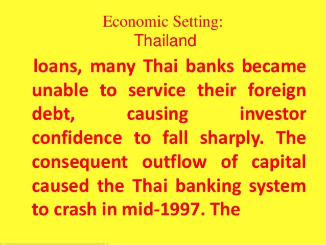 fiscal policy in thailand 1997 financia Fiscal policy, including tax reforms, public expenditure reviews, tax administration  reform  taiwan, and thailand since the asian financial crisis of 1997.