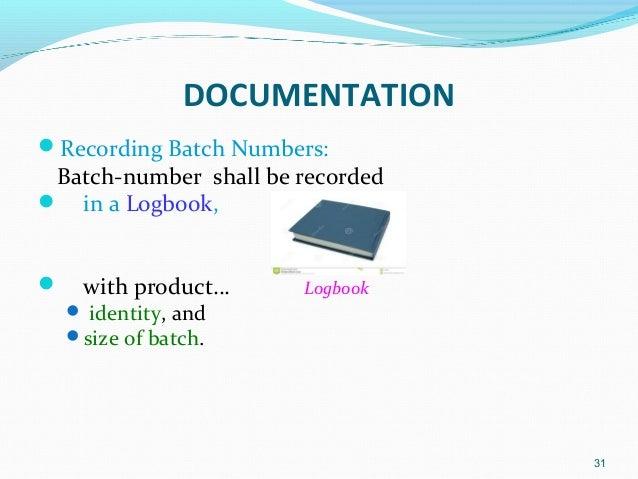 gmp good documentation practices