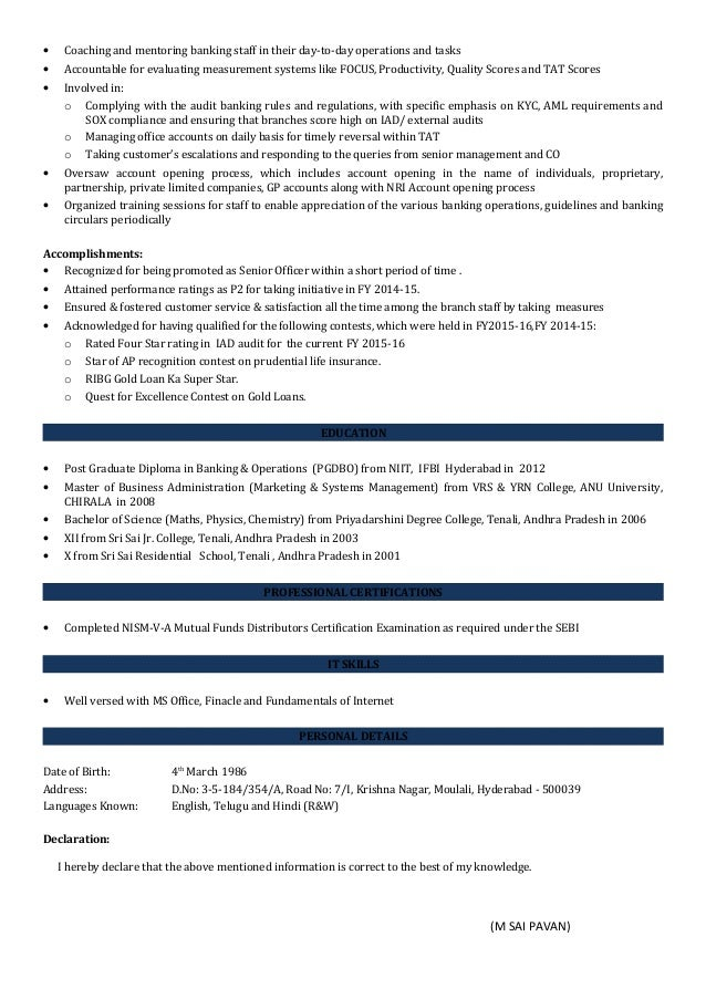 is declaration required in resume is declaration required in resume