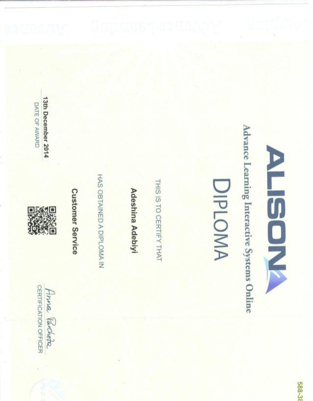 Alison Certificate