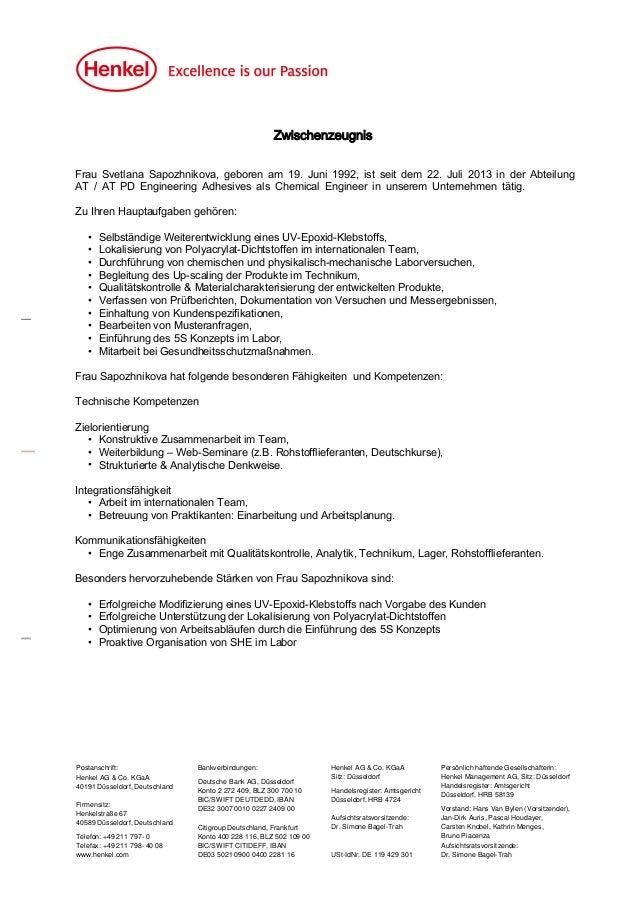 Postanschrift: Henkel AG & Co. KGaA 40191 Düsseldorf, Deutschland Firmensitz: Henkelstraße 67 40589 Düsseldorf, Deutschlan...