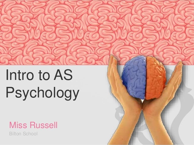 Intro to AS  Psychology  Miss Russell  Bilton School  Charlotte Russell Bilton School