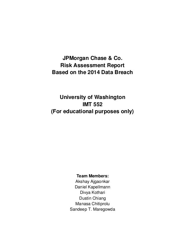 JPMorgan Chase & Co  -Risk Assessment Report