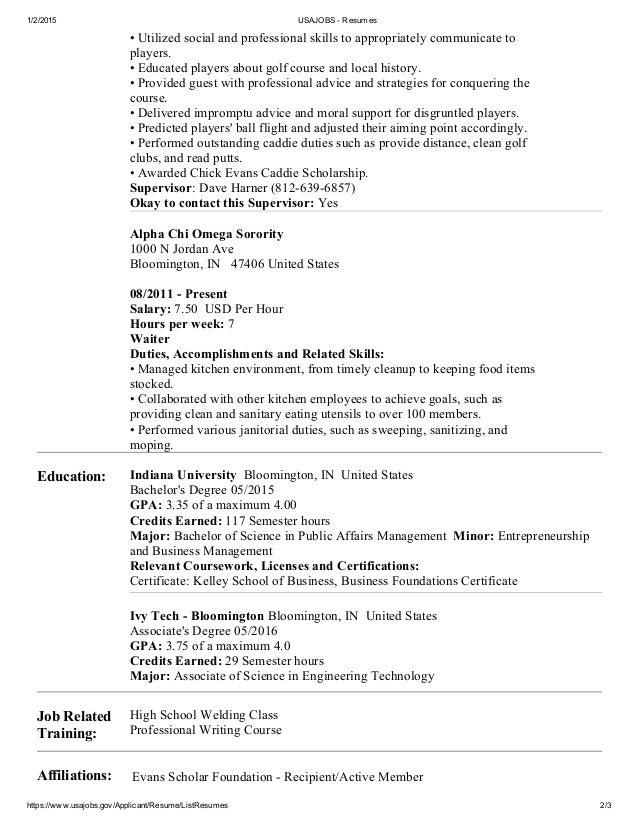 Delightful ... 2. 1/2/2015 USAJOBS Resumes ... Regarding Usa Jobs Resume Tips