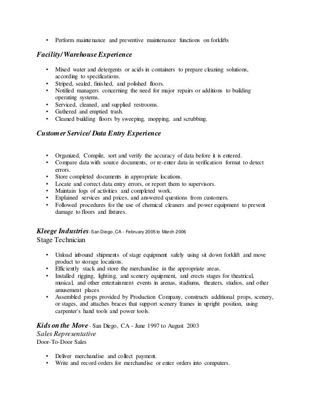 unforgettable forklift operator resume examples to stand out