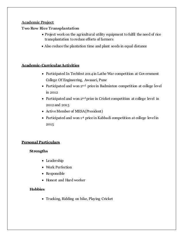 curriculam vite omkar resume