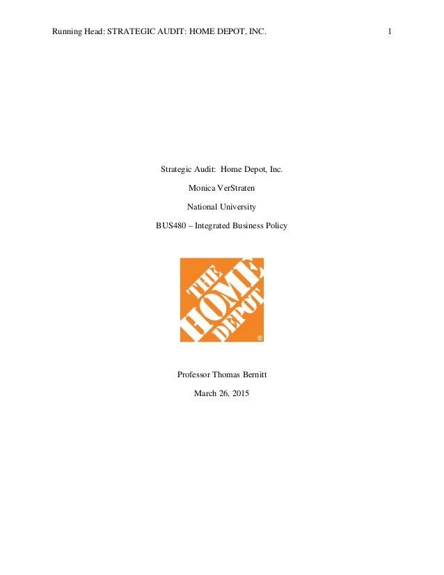 Home depot inc analysis