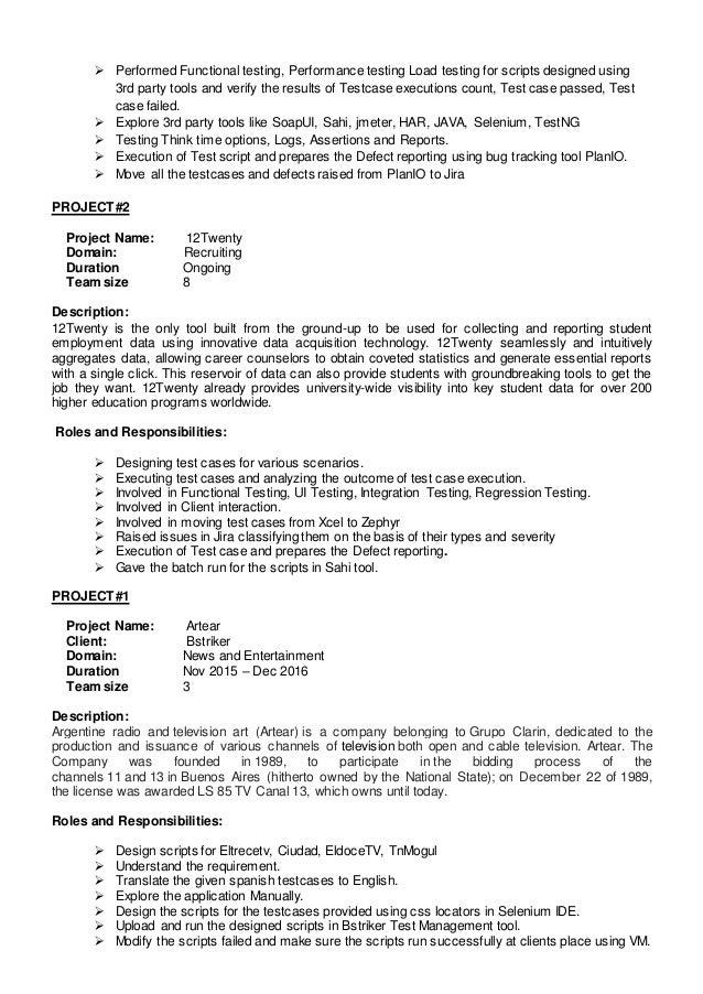 rajesh istqb software testing resume