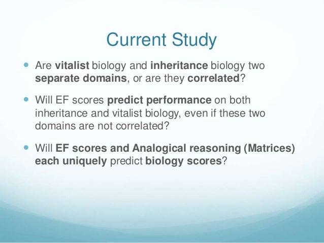 Study on vitalist