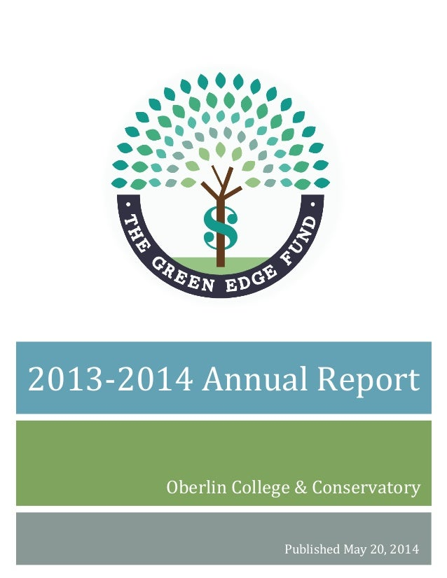 Oberlin	   College	   &	   Conservatory	    Published	   May	   20,	   2014	    2013-...